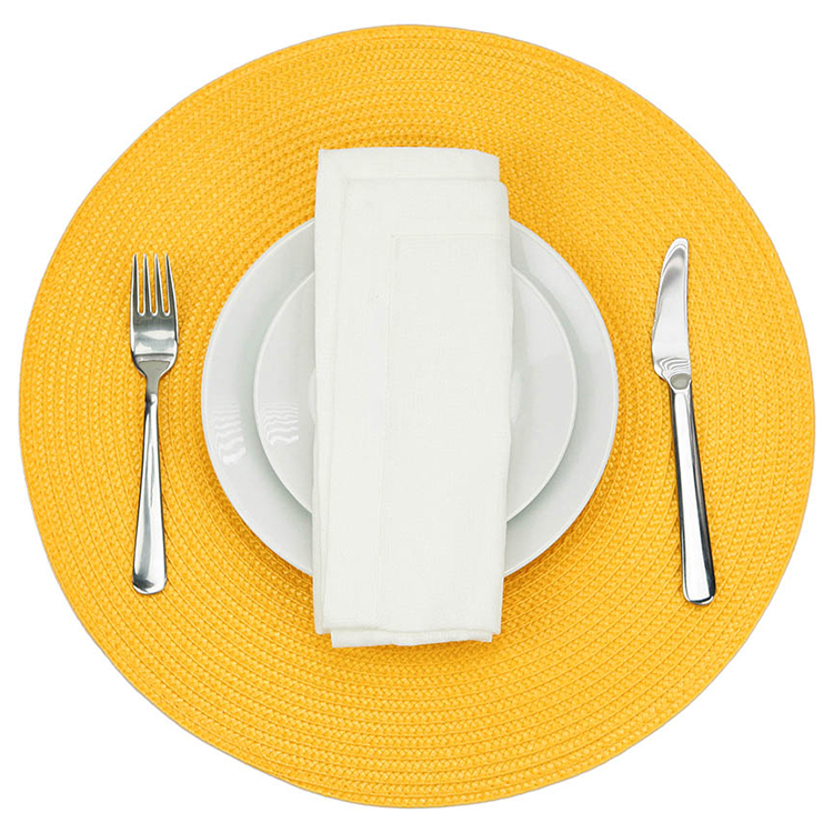 PP ROUND WOVEN PLACEMAT